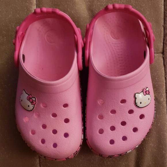 6a56d702b0a9ca Girls  Hello Kitty Light-Up Crocs